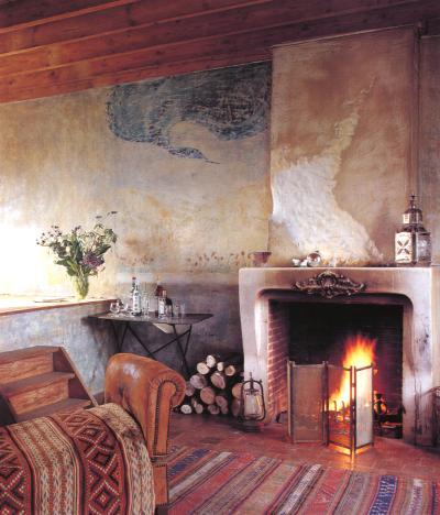 Kamin - Wandgestaltung antik ...